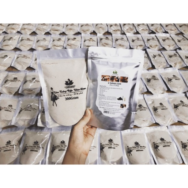 (Gói 300gr) Ủ trắng cafe body ,dùng cho mặt và body