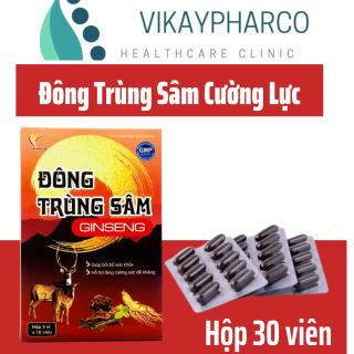 Đông Trùng Sâm GINSENG - Bổ Thận Tráng Dương, Tăng Cường Sinh Lực- Hộp 30 viên thumbnail