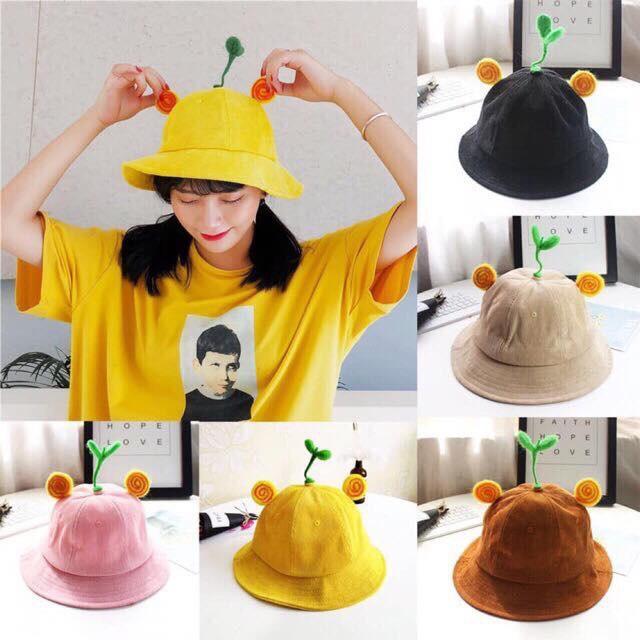 Nón Cây Mầm-Mũ Mầm cây-Mũ bucket- Nón Bucket (hình tự chụp) [size người lớn] Nhật Bản