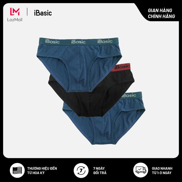 Nơi bán Combo 3 quần lót nam cotton tam giác chất liệu co giãn thoáng mát iBasic PANM077 - 2 xanh 1 đen