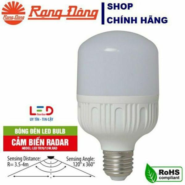 Bóng đèn cảm biến Rada 9W/15W Rang Đông