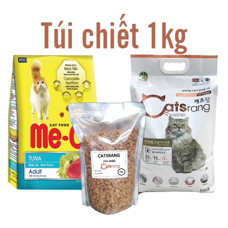 Thức ăn mèo (2 loại) me-o cho mèo lớn catsrang cho mèo mọi lứa tuổi
