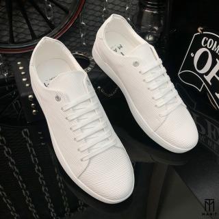 Giày thể thao nam da nhập Poly Synthetic thiết kế vân nổi thời trang LC19 1