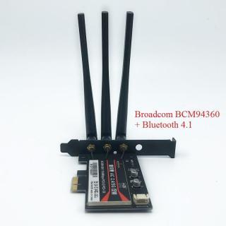 Card WiFi Cho PC Broadcom BCM94360 + Bluetooth 4.1 Chuẩn AC Dualband Hỗ Trợ MacOS thumbnail