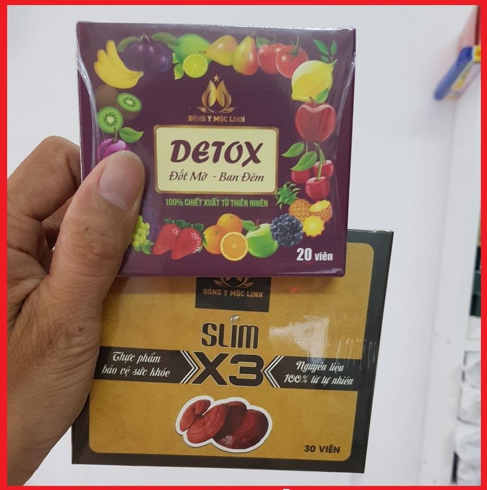 giảm cân x3 tặng 20 viên detox (giành cho cơ địa khó giảm)