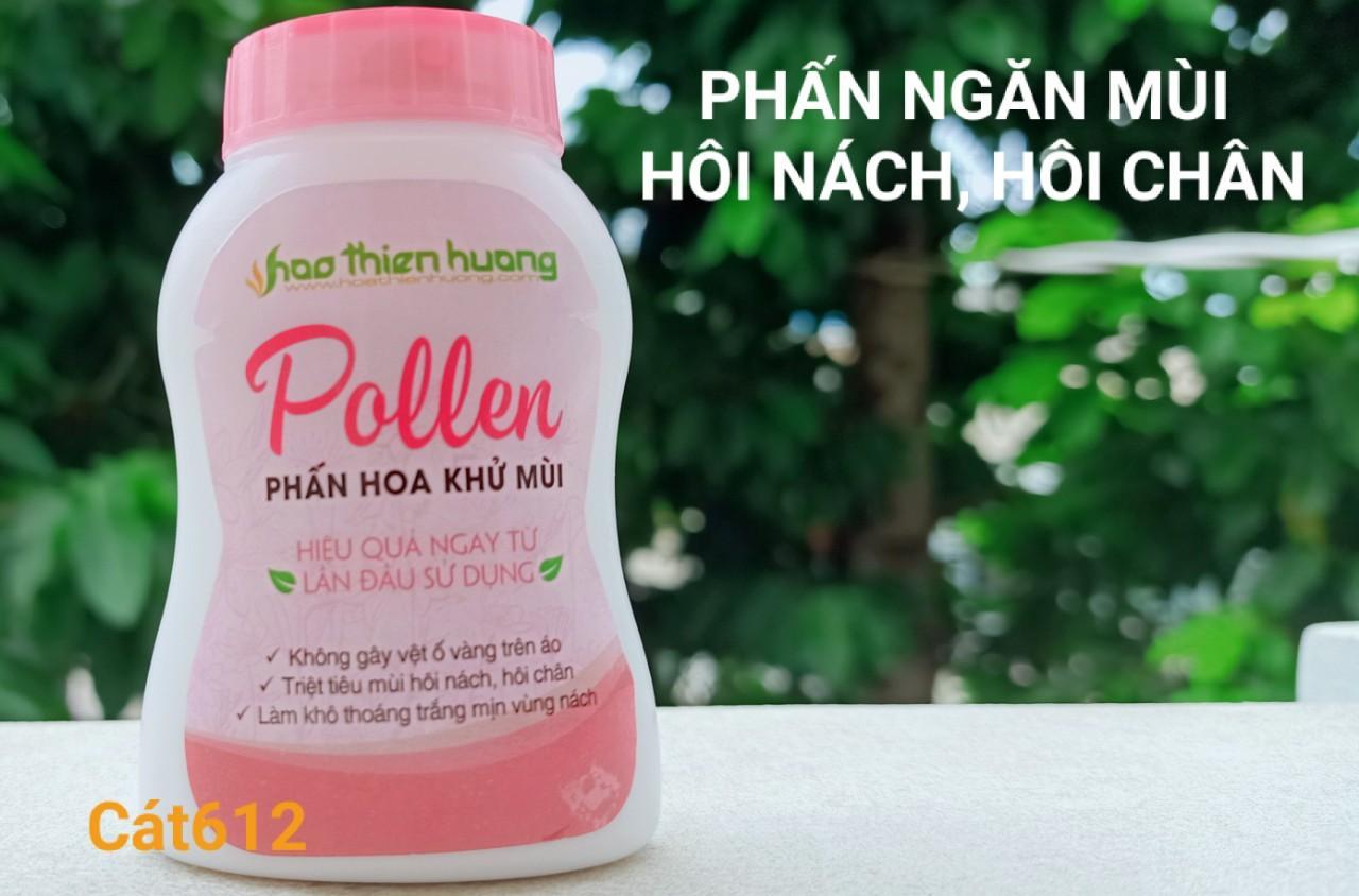 Phấn Pollen - Đặc trị hôi nách, hôi chân (dạng chai, mẫu mới) cao cấp