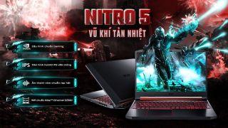 ( MỚI FULLBOX BẢO HÀNH HÃNG ĐẾN THÁNG 9 - 2021) Laptop Acer Nitro AN515 54 71HS i7 9750H 8GB 256GB 4GB GTX1650 Win10 thumbnail