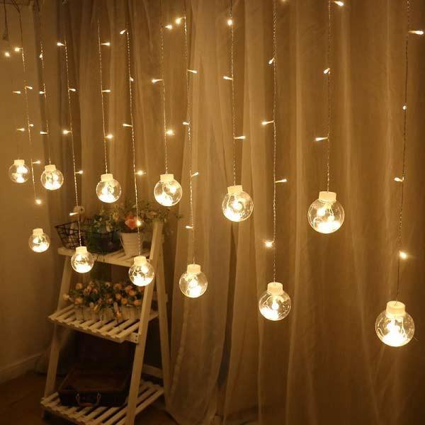 Bảng giá ĐÈN NHÁY MÀNH Cầu 12 bóng LED dùng Điện 220v trang trí Giáng sinh, lễ, tết