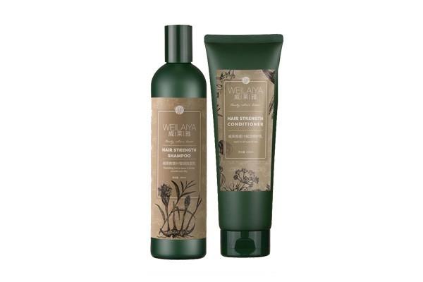 Bộ dầu gội đầu xả HÀ THỦ Ô TEM XÁM Weilaiya tinh chất gừng hỗ trợ móc tóc và ngừa rụng tóc - Hàng chính hãng mẫu mới