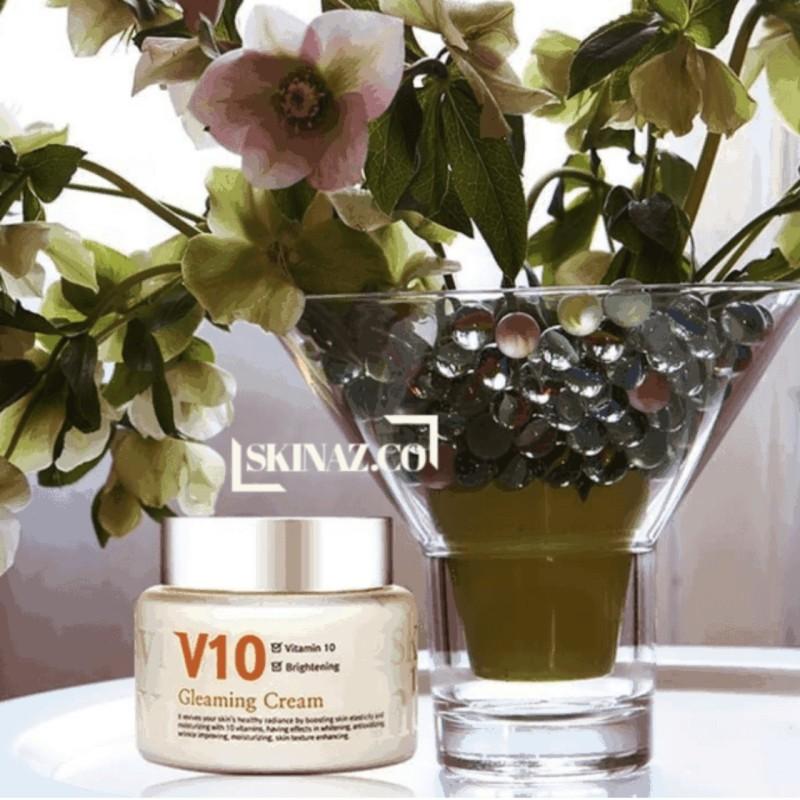 Kem dưỡng trắng da mặt cao cấp V10 Gleaming Cream Skinaz giá rẻ