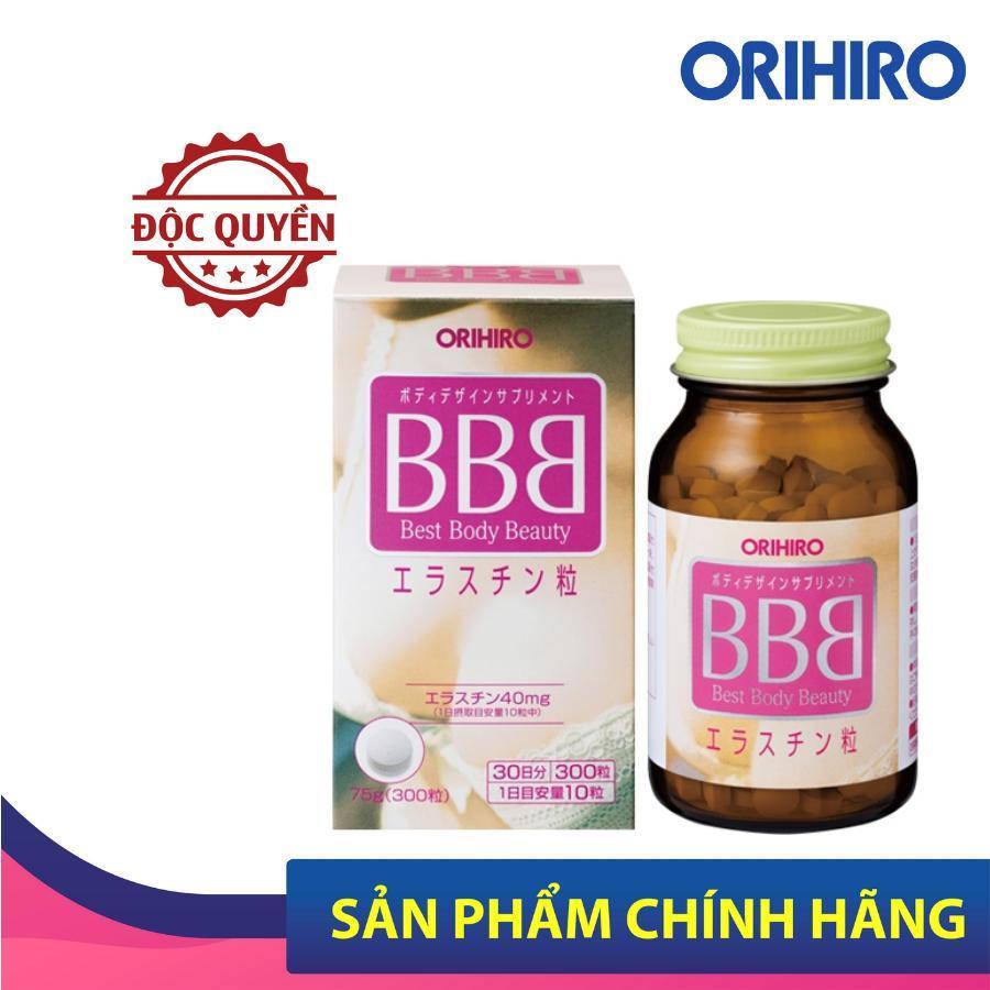 Viên uống nở ngực BBB Best Beauty Body Orihiro Nhật Bản giúp tăng kích thước và săn chắc ngực,  300 viên/hộp nhập khẩu