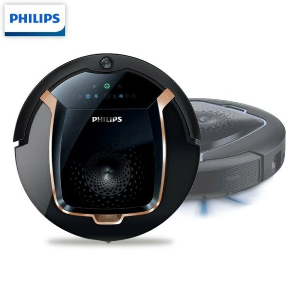 Robot hút bụi thông minh nhãn hiệu Philips FC8820 SmartPro Active hoạt động liên tục 120 phút (4 chế độ làm sạch) và 25 cảm biến
