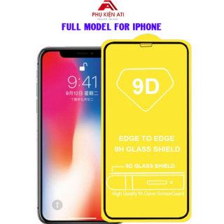 [ĐÃ CÓ IPHONE 12] Kính cường lực iPhone Full màn hình 9D- Full dòng iPhone từ 6 đến 12Promax- Cường lực 9D cho iPhone thumbnail