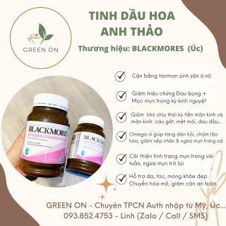 Tinh dầu Hoa anh thảo Blackmores, cân bằng nội tiết nữ, giảm mụn, đau bụng sinh lý (190 viên) thumbnail