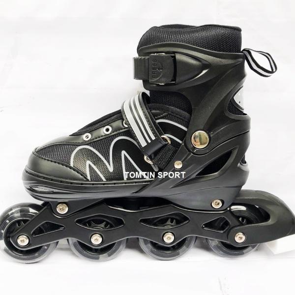 Mua [MẪU MỚI] Giày trượt patin trẻ em 8 bánh phát sáng tặng kèm bảo hộ chân tay