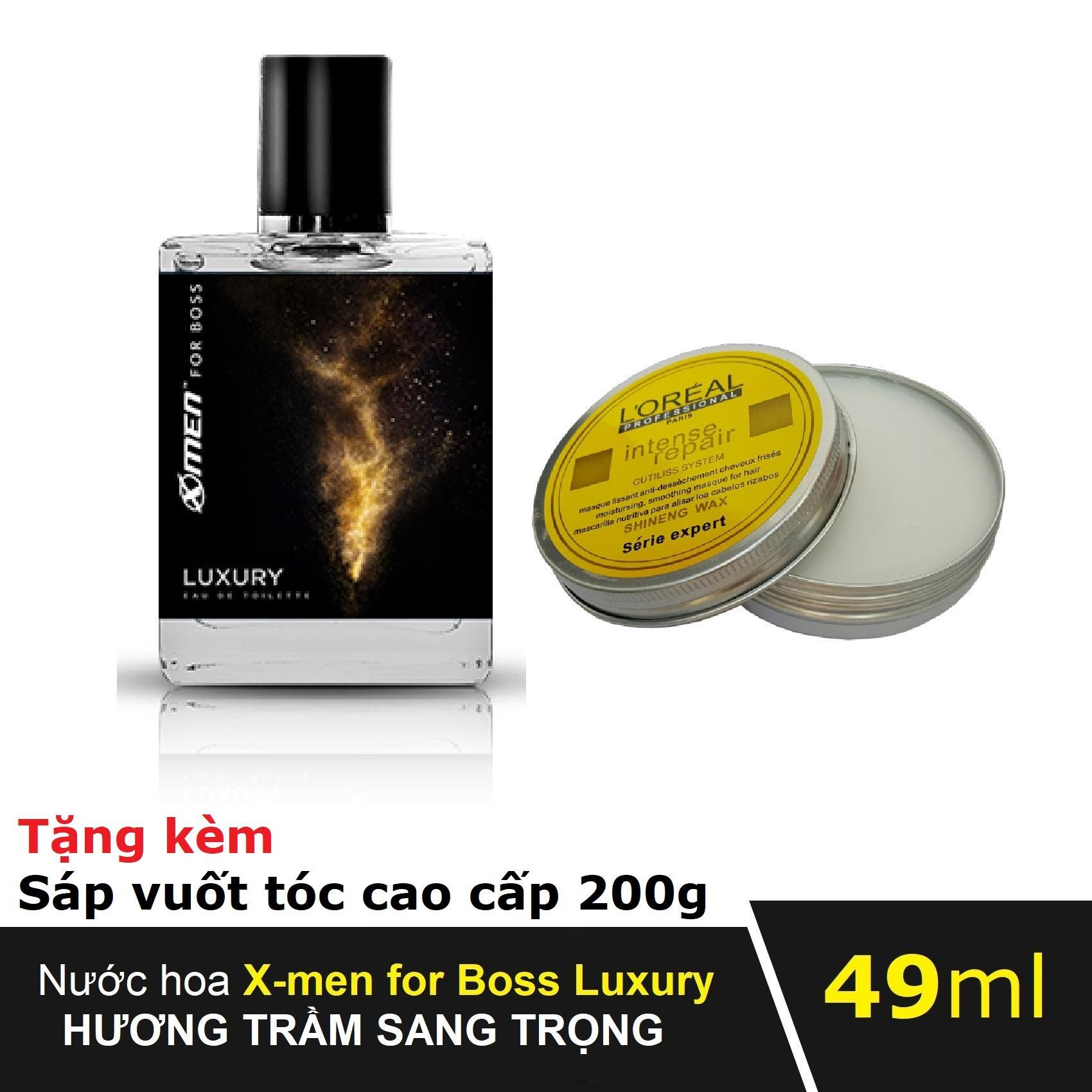Nước hoa Xmen for Boss Luxury 49ml tặng kèm Sáp vuốt tóc cao cấp 200g