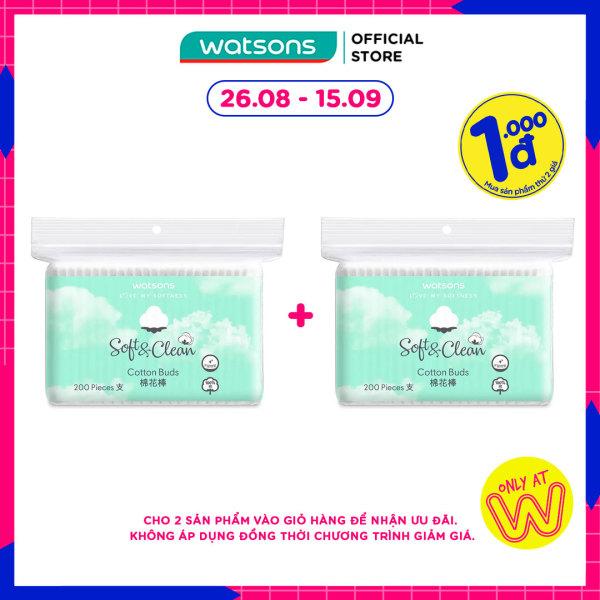 [1000đ SẢN PHẨM THỨ 2] Bông Tăm Watsons Love My Softness Soft & Clean Cotton Buds 200 Cây