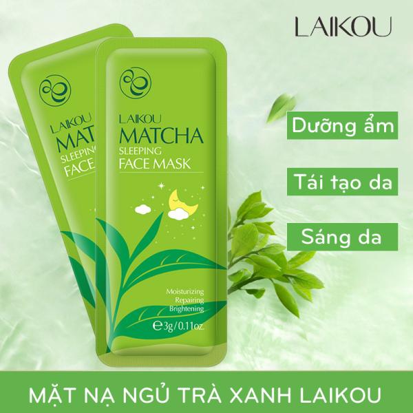 [GIÁ DÙNG THỬ] 5 miếng Mặt nạ ngủ trà xanh LAIKOU dưỡng ẩm và chống lão hóa mặt nạ dưỡng da mặt nạ ngủ matcha mặt nạ nội địa Trung XP-MN131