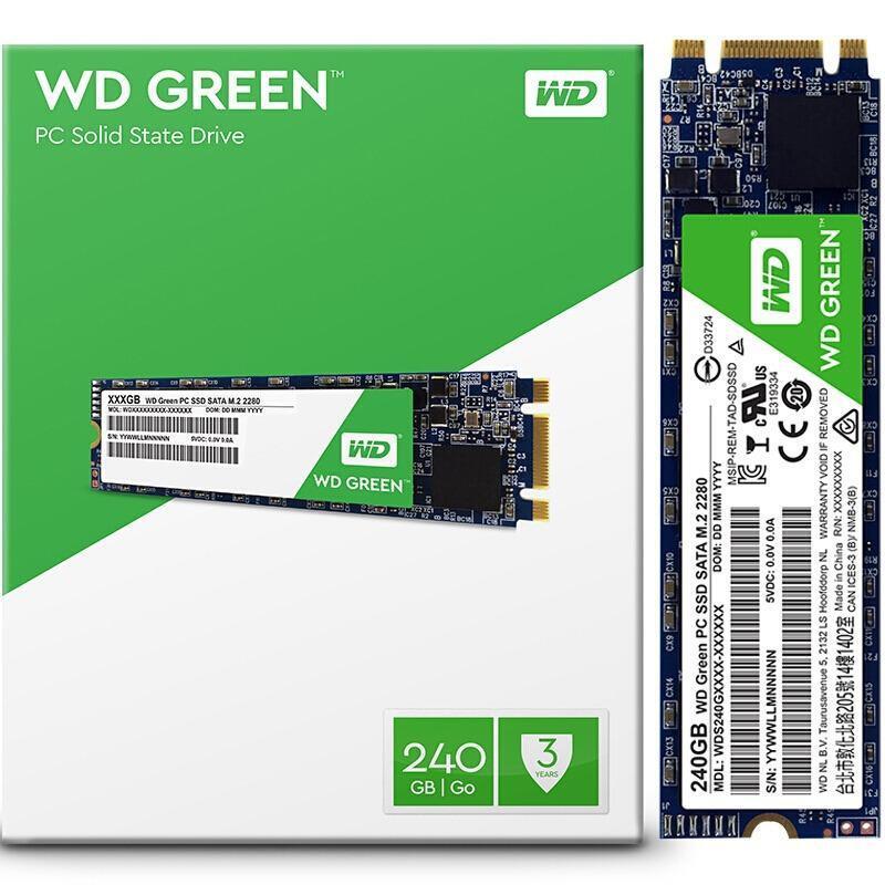Giá Ổ cứng SSD WD G2 240GB Chuẩn M.2 Green