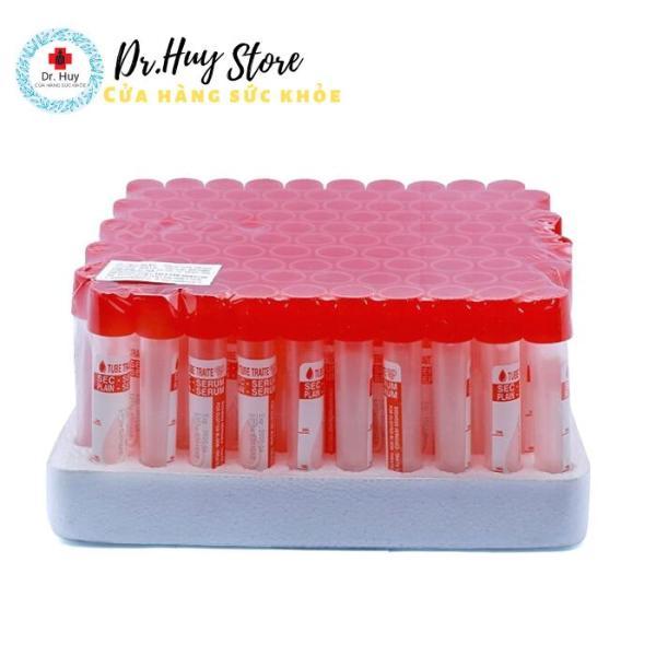 Ống nghiệm đông máu SERUM HTM dùng trong xét nghiệm y khoa hộp 100 cái