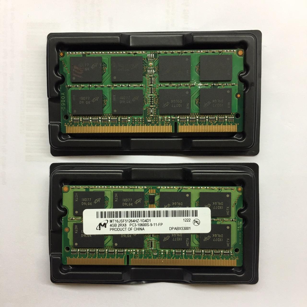 Ram laptop DDR3 4GB bus 1333 PC3 10600S ( nhiều hãng)Micron / Crucial/samsung/hynix/...