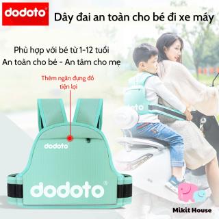 Đai đi xe máy Dodoto cho bé từ 1 - 12 tuổi đai địu ngồi xe máy đeo vai thắt lưng đai ngực đai địu chống ngã cho bé [Mikit-House] thumbnail