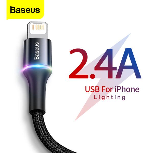 Baseus dây sạc iphone Cáp USB cho bộ sạc iPhone Sạc dữ liệu nhanh Cáp điện thoại di động cho iPhone Xs Max Xr X 8 7 6 6S 5 5S Se Dây dây iPad