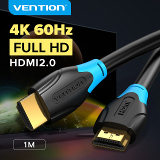 Vention dây cáp hdmi 2.0 4K High Speed HDMI Male to Male 2.0 Cable Monitor Video Cable with 3D 4K 60Hz cáp HDMI kết nối tivi 1M 2M 3M 5M 10M for HDTV LCD Projector Laptop PS3 PS4 Switch HD HDMI 2.0 Cable thumbnail