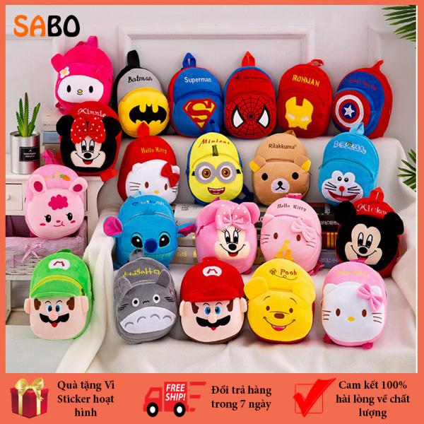 Giá bán Balo nhung hoạt hình mềm mại cho bé từ 0 - 3 tuổi SaBo, Balo hình thú dễ thương cho bé mầm non, Balo trẻ em, siêu bền