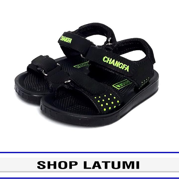 Giày Sandal trẻ em thời trang cao cấp Latumi TA2482 (Đen Phối Xanh Lá)