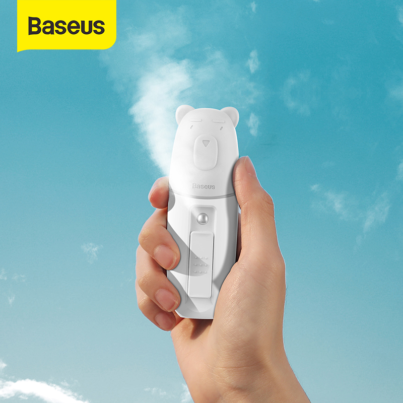 Baseus 15ml Portable Humidifier Cute Style Handheld Sprayer Nano Facial Body Humidifier for Summer