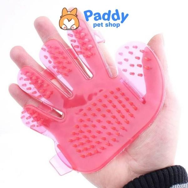 Găng tay tắm kết hợp chải lông chó mèo