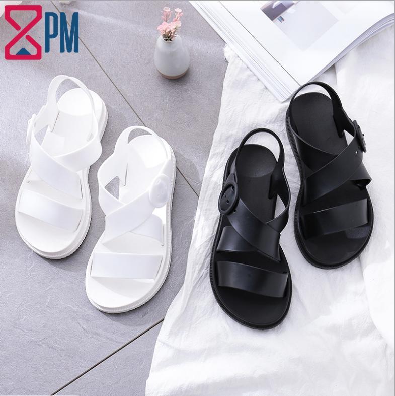 Giày Sandal Nữ CHỐNG NƯỚC Cao Su Quai Chéo G1801 Giá Hot Siêu Giảm tại Lazada