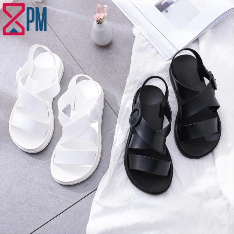 Giày Sandal Nữ CHỐNG NƯỚC Cao Su Quai Chéo G1801 giá rẻ
