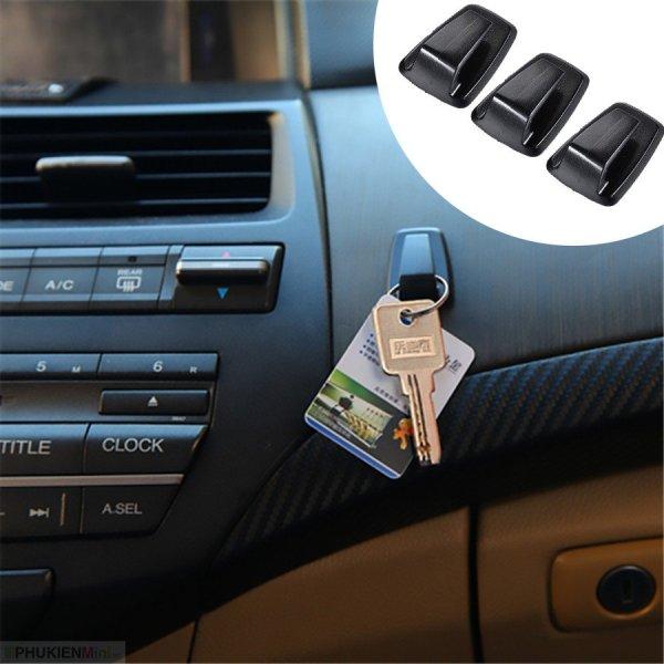 Bộ 3 móc treo đa năng dán taplo, cánh cửa cho xe hơi, ô tô dùng treo móc khoá, túi, mắt kính, dây nhợ