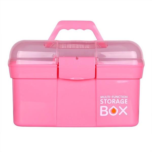 cốp nhựa ,skinnail,nhỏ gọn, 2 tầng,cốp đồ nail,cốp đồ mi,đựng vừa máy hơ sun one nhỏ gọn dễ mang theo,màu hồng xinh xắn.