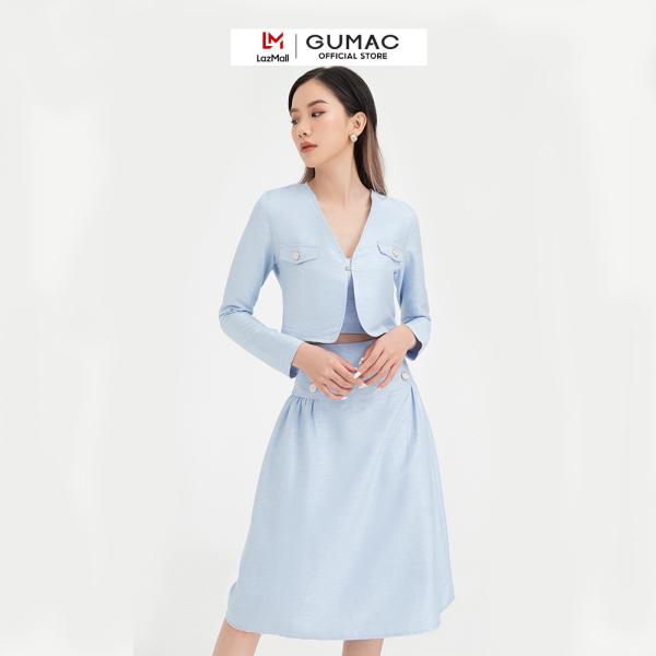 Nơi bán Chân váy nữ dáng dài cách điệu phối nút VB490 màu xanh hot trend, trẻ trung dễ phối đồ