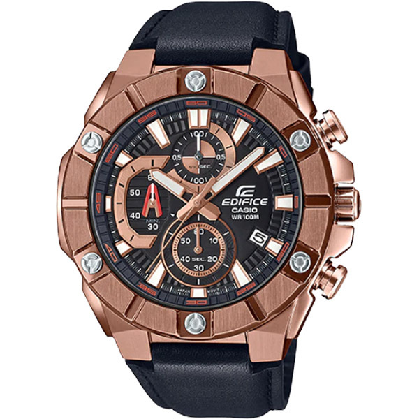 Đồng hồ nam dây da CA$IO EDIFICE EFR569BL-1AV, Đồng hồ nam cao cấp - watch men bán chạy