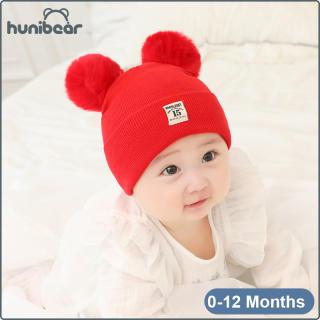 Mũ Bé Trai Mùa Đông Đáng Yêu, Mũ Dệt Kim Cho Bé Từ 0-12 Tháng Tuổi