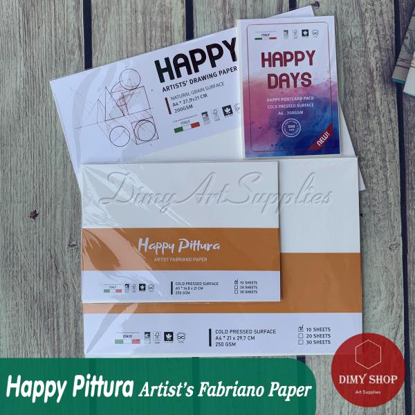 Mua Giấy vẽ đa chất liệu HAPPY Pittura 250gsm (vân nổi Cold)