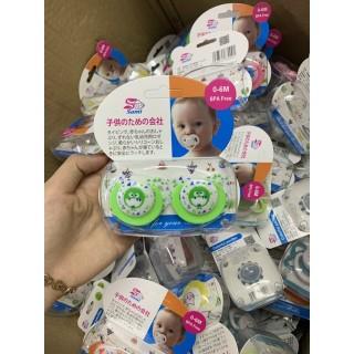 Set 02 ti giả, núm ti Sami giúp bé ngủ ngon giấc, chất liệu silicon an toàn cho bé sơ sinh thumbnail