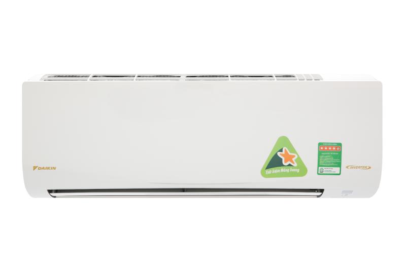 Máy lạnh Daikin Inverter 2 HP FTKQ50SAVMV - Nhãn năng lượng tiết kiệm điện:5 sao (Hiệu suất năng lượng 4.45) Tiện ích:Chức năng hút ẩm, Thổi gió dễ chịu (cho trẻ em, người già), Hẹn giờ bật tắt máy, Làm lạnh nhanh