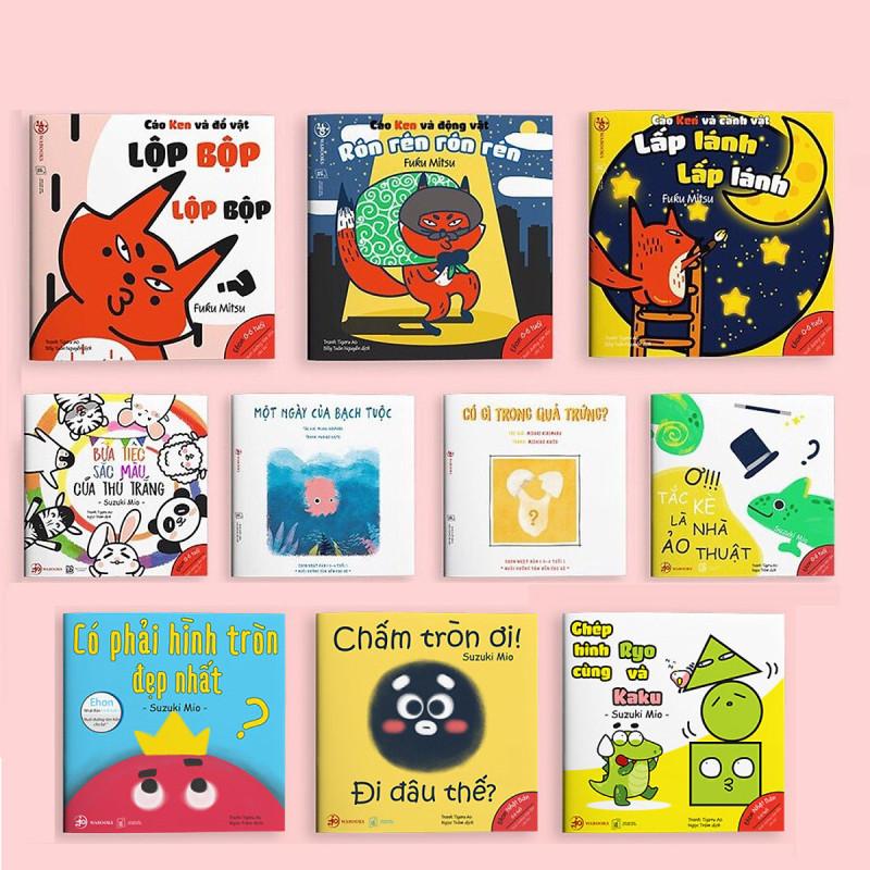 Combo 10 cuốn Ehon Nhật Bản: Hình Khối, Âm Thanh, Màu Sắc