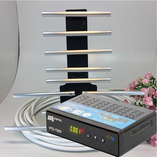 Giá Đầu thu kỹ thuật số VTC T201 - 2019 + ANTEN thông minh kèm 15m dây Điện máy Tân Đại Phát