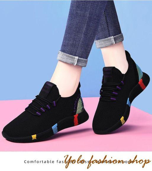 Giày thể thao nữ đế êm phối màu xinh xắn - Kèm hình thật TT7 giá rẻ