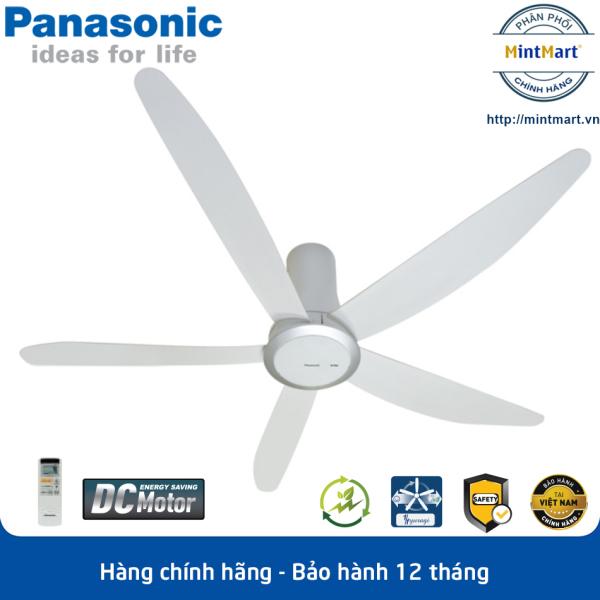 [Trả góp 0%]Quạt trần 5 cánh Panasonic F-60TDN - Động cơ DC tiết kiệm điện công suất 37W - Hàng chính hãng - Bảo hành 12 tháng
