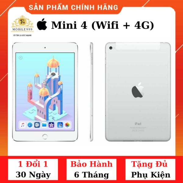 iPad Mini 4 (Wifi + 4G) 16G /32G /128G Chính Hãng - Zin Đẹp - Màn Retina sắc nét - Tặng phụ kiện + Bao da - 1 đổi 1 30 ngày - BH 6 tháng - MOBILE999