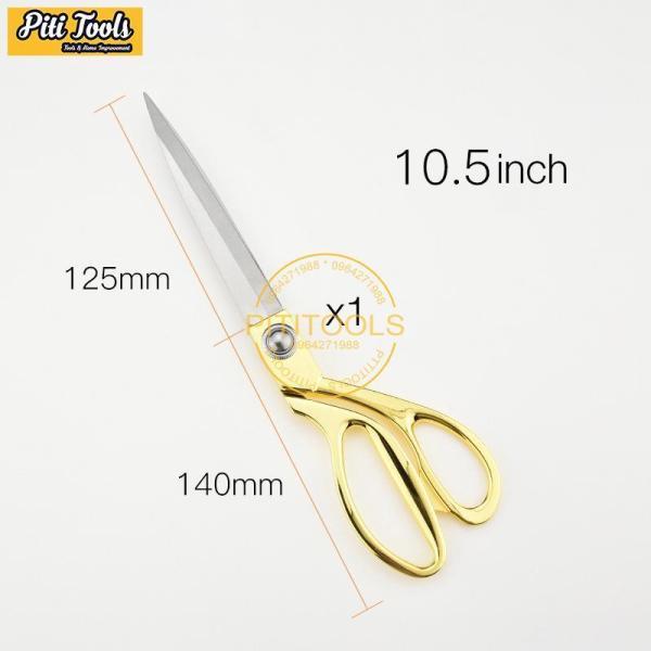 Mua Kéo cắt vải Kéo cắt may chuyên dụng kích thước 9.5-10.5 inch chất liệu bằng thép không gỉ nhiều màu nhiều size PITITOOLS PTS0005