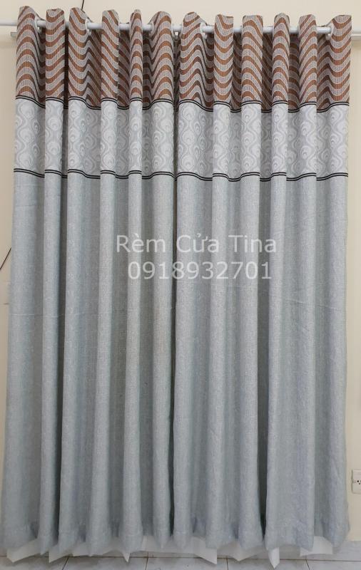 Rèm cửa chính, rèm cửa đi, chống nắng cao cấp, vải bố dày giá rẻ TN-002