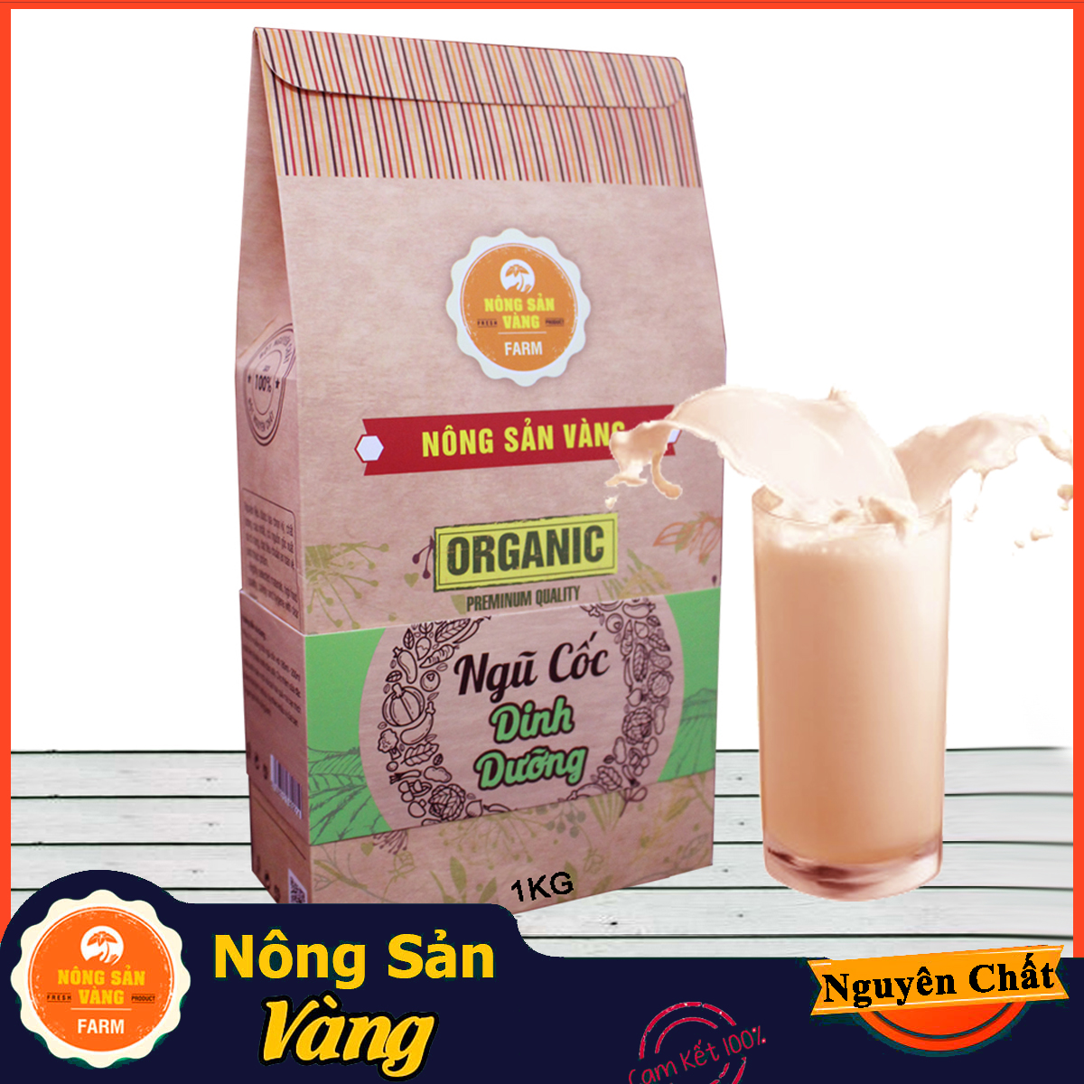 Ngũ Cốc Dinh Dưỡng lợi sữa, tăng cân 1kg ( Nông Sản Vàng)
